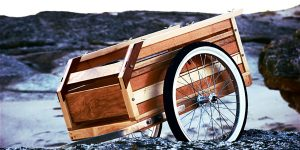 remorque vélo bois design vintage bretagne