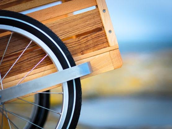 remorque vélo bois détail