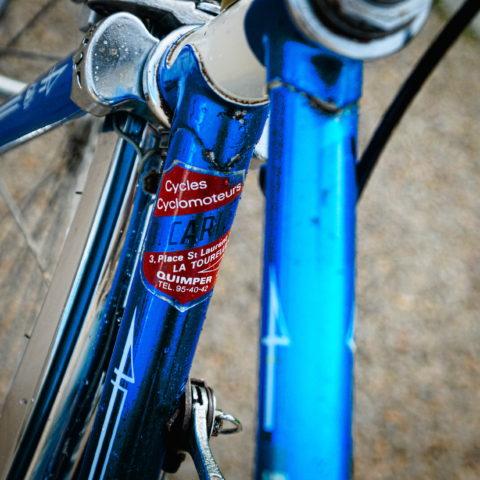 vélo vintage Motoconfort tête de fourche chromée