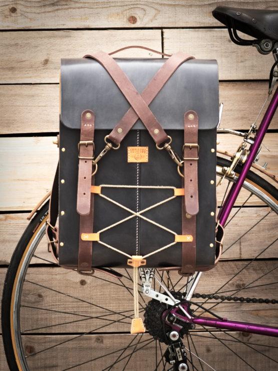 sacoche vélo cuir et bois sur spécial CNC