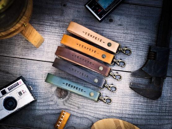 Porte clés cuir personnalisé