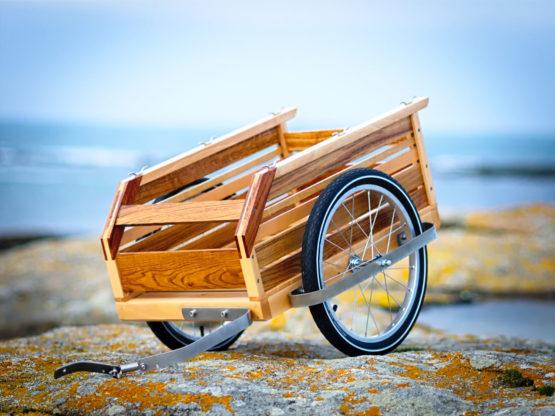 Remorque vélo bois
