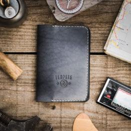Porte passeport cuir tannage végétal fabriqué en France artisanalement