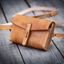 étui appareil photo compact cuir et bois